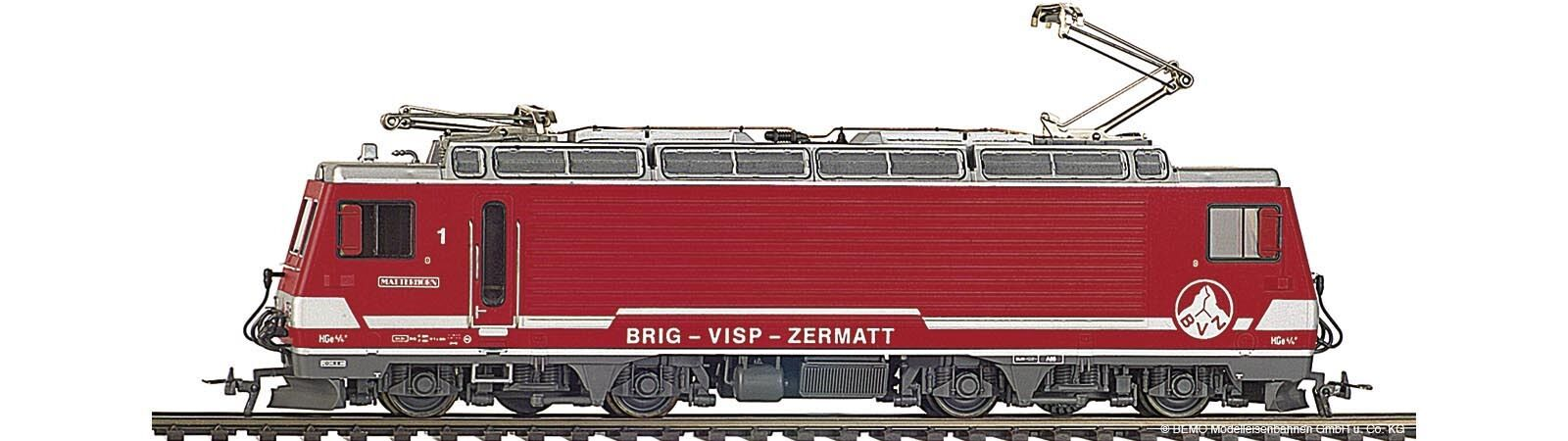 BEMO 1262 515 1262515 carreggiata stretta-INGRANAGGIO-e-Lok hge4 4ii 5 BVZ ep5 ROSSO h0m