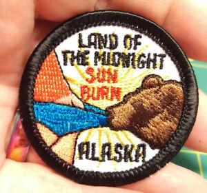 NEW-Fun-Alaska-Merit-Badge-Patch-LAND-OF-THE-MNIDNIGHT-SUN-BURN-Alaska-patch