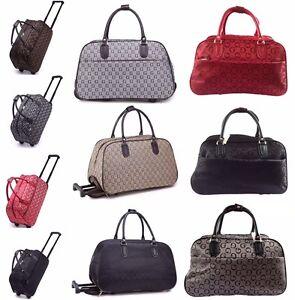 Ladies Holdall Weekend Bag Hand Luggage With Wheels Flight ...