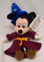 Walt Disney Fantasia Sorcerer Mickey Mouse 11 Bean Bag Stuffed Animal