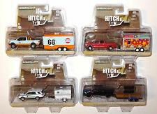 GREENLIGHT HITCH & TOW RELEASE 7 COMPLETE 4-TRUCK & TRAILER SET