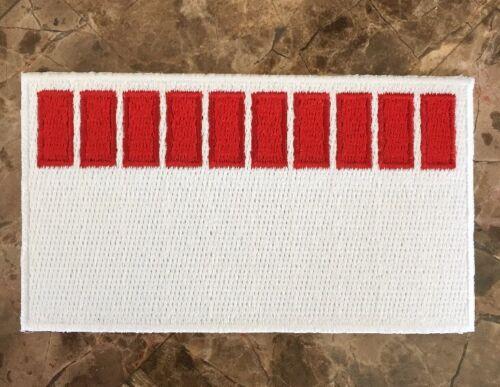 RARE Official Ferrari F1 Barcode Uniform Shoulder Patch Michael Schumacher