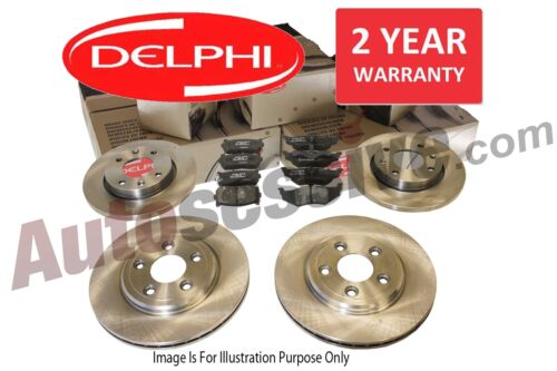 Delphi Honda S2000 1999 Front /& Rear Brake Discs /& Pads Braking Set Kit 300mm Ø