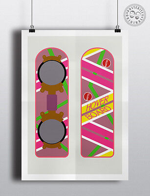 Minimalist 80/'s Poster by Posteritty Design HOVERBOARD Back to the Future