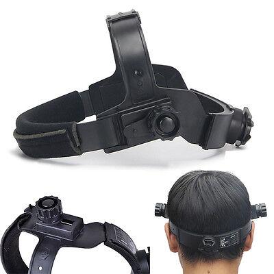 Adjustable Black Solar Auto Welding Mask Headband  Dark Helmet Accessories