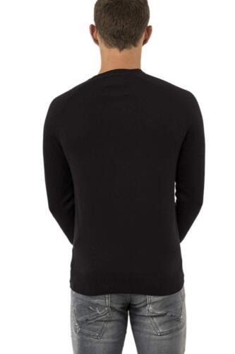 Superdry Men/'s Orange Label Cotton Crew Knit Jumper Dark Cravern Navy S XXXL