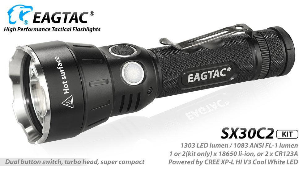 Eagletac SX30C2 Neutral Weiß Flashlight 1303Lm -Model Kit Kit -Model XP-L HI LED 1e4b98