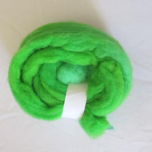 Fine Needle Felting Wool 5g 10g 20g 50g Spinning Roving Wet Tops 21 mic