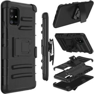 For Samsung Galaxy A71 5G ONLY Case Shockproof Holster Holster Clip stand Black