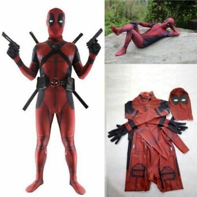 Deadpool Spandex Cosplay Costume Role Play Jumpsuit Super Hero Uniform Clothings
