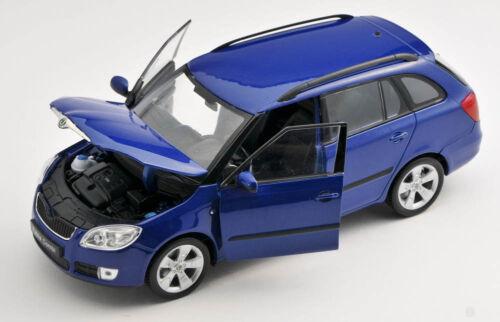 BLITZ VERSAND Skoda Fabia II Combi  blau blue Welly Modell Auto 1:24 NEU /& OVP