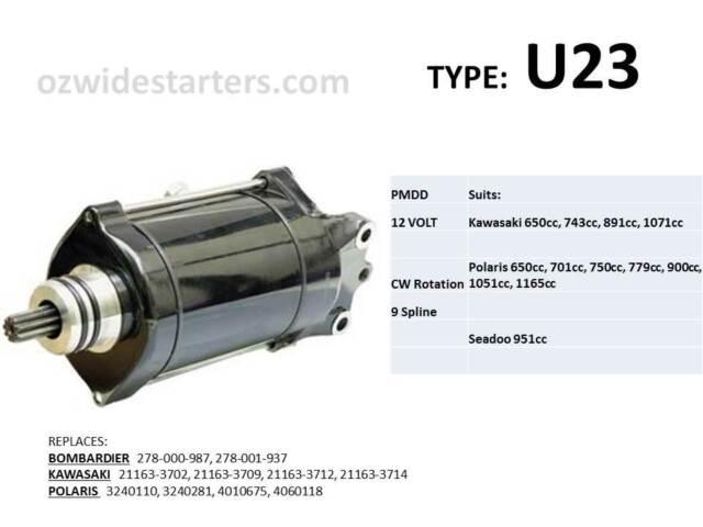 Kawasaki starter motor suits 650, 750, 800, 900, 1100, SX, SXI, STX, ZXi, SX-R