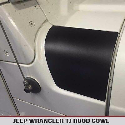 Hood Cowl Matte Black Decal Fits: Jeep Wrangler TJ 97-06 Free Shipping!