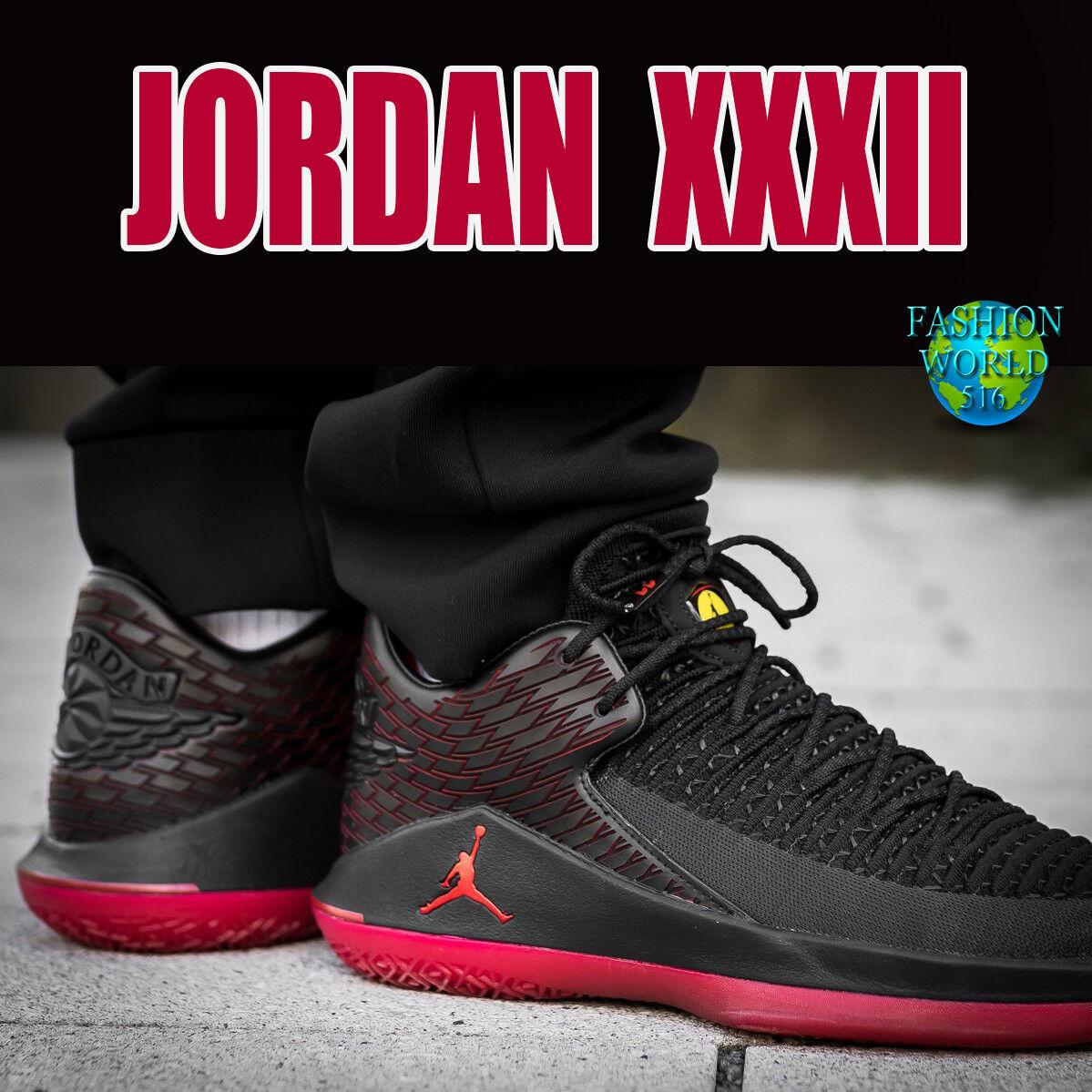 Nike air jordan uomo numero 13, xxxii, basso maschile di basket scarpa aa1256-003 nero