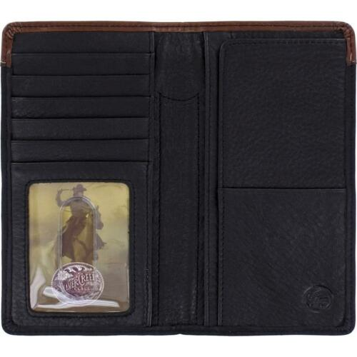 Silver Creek Western Mens Rodeo Wallet Leather Lone Star Concho Black E80013
