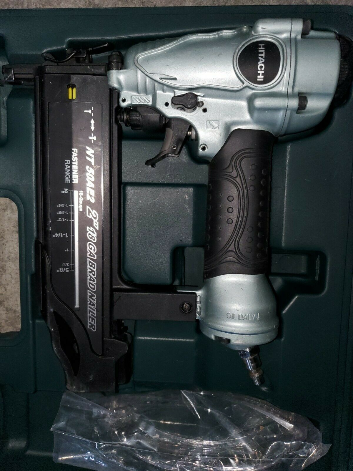 Hitachi NT50AE2 2 18-Gauge Brad Nailer kit nail gun nt50ae with 1 year warranty. Available Now for 49.99