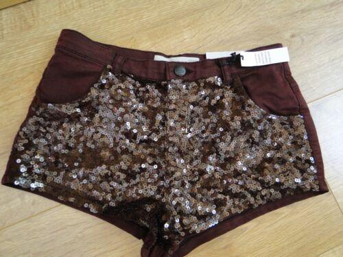Topshop  burgundy 8 10    shorts RRP £35 8 10 BNWT