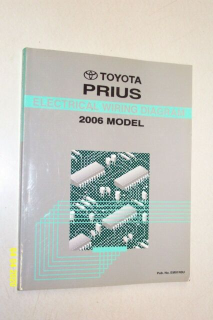 2006 Toyota Prius Electrical Wiring Diagram Manual Ewd Oem