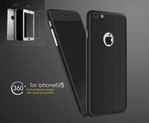 New-Hybrid-360-Hard-Ultra-Thin-Case-Tempered-Glass-Cover-iPhone-6-6S-5-5S-SE