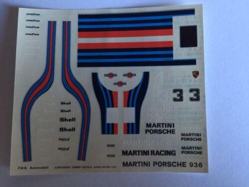 PORSCHE 936 TURBO 1976 DECALS 1//43