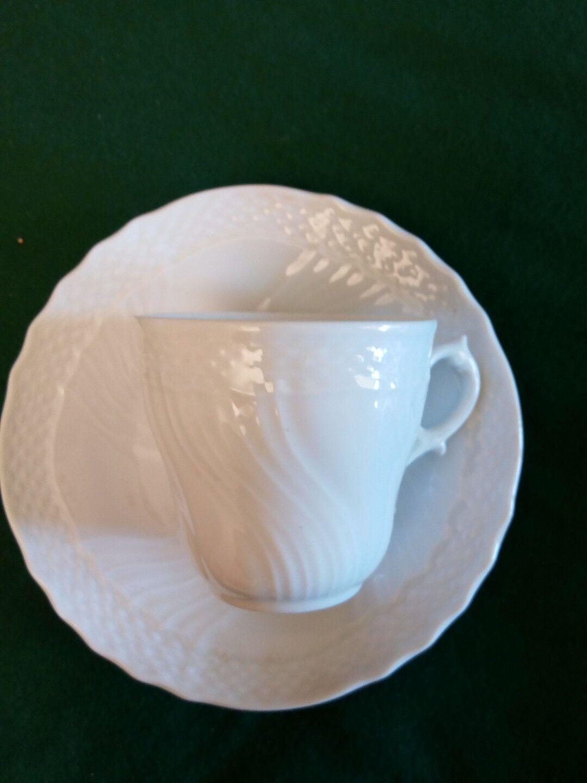 RICHARD GINORI 2 tasses de café tasse avec assiette porcelaine vieux GINORI Blanc