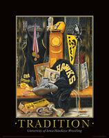 Iowa Hawkeye Wrestling Motivational Poster Art Print Dan Gable Tom Brands Mvp30