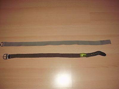 2 Kinder - Gürtel / Stoffgürtel In Hellgrau & Khaki