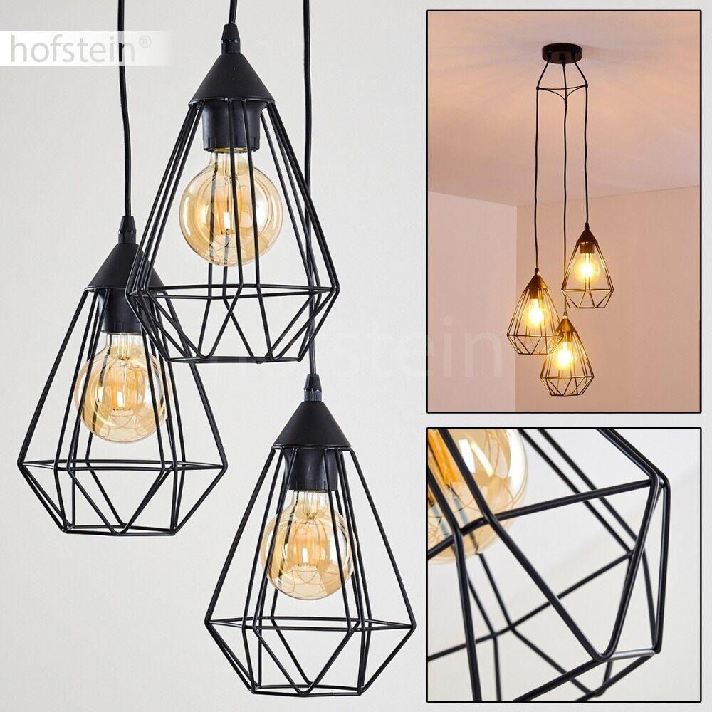 Hänge Beleuchtung Vintage Ess Tisch Wohn Schlaf Zimmer Raum schwarz Pendel Lampe