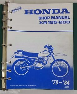1979 1984 honda xr185 xr200 motorcycle service manual with rh ebay com honda xr200 service manual honda xr200 service manual pdf free download