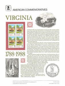 312-25c-Virginia-Statehood-2345-USPS-Commemorative-Stamp-Panel