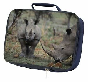 Details about Rhinocerous Rhino Navy Insulated School Lunch Box Bag,  ARH-1LBN