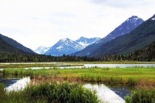 ALASKA MOUNTAIN LANDSCAPE POSTER PRINT STYLE B 24x36 HI RES 9MIL PAPER