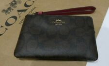 Brown Logo Leather RRP $172.00 Wallet YEAR OF THE RAT Coach Zip Round  Purse
