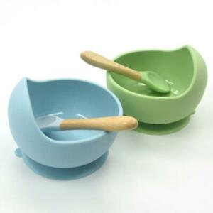 Silicone-Suction-bowl-Baby-amp-Toddler-Bowl-amp-Spoon-Set-For-Chidren-AU