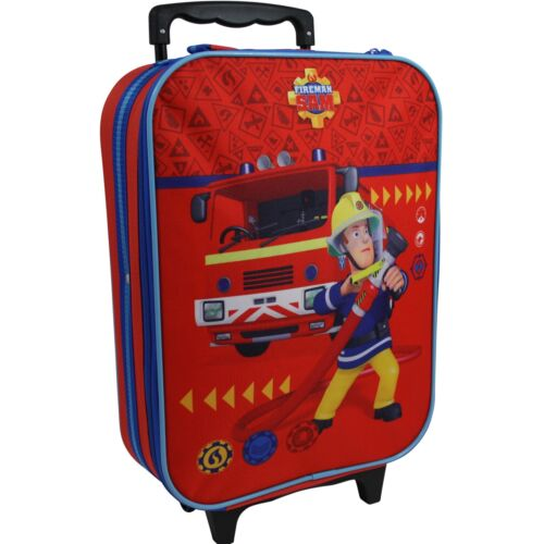 Feuerwehrmann Sam Kinder Koffer Trolley Kinderkoffer Reisekoffer Handgepäck 9978