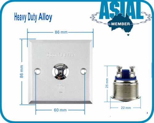Heavy Duty Alloy Door Touch Exit Button Push Release Switch Panel Access Control