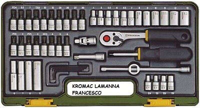 Proxxon 23280 - Set wrenches tube, 1 4 , 49 pieces