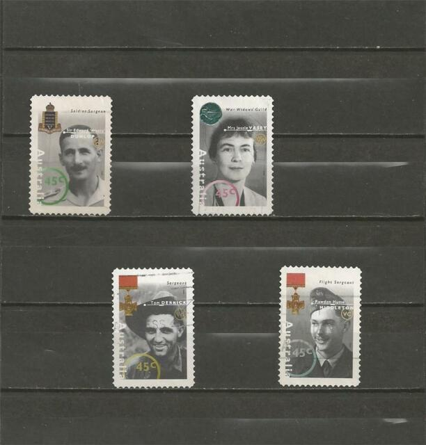 AUSTRALIA - 1995 Personalities from the World War II --  NICE USED COMPLETE SET.