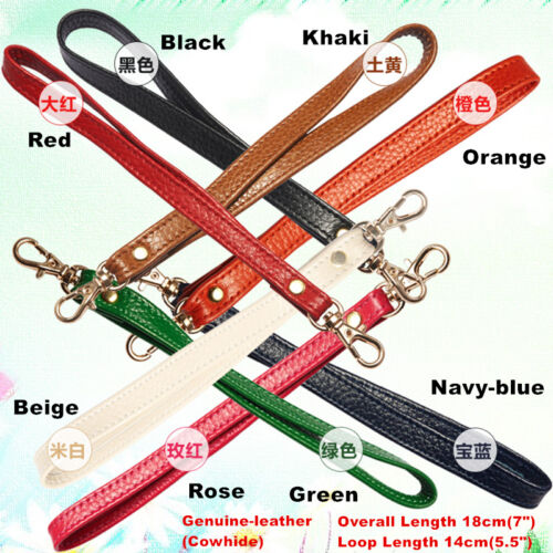 Replacement Genuine Leather Wrist Strap For Clutch//Wristlet//Purse//Pouch 13Colors