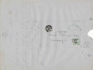 Spain 19th centuary stamps cover Ref 8282