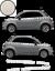 Fiat-500-Autocollant-Bandes-Stickers-adhesifs-decoration-couleur-au-choix miniatura 2
