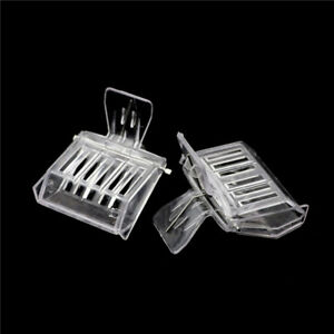 2Pcs-Bee-Tools-Queen-Cage-Colorless-Plastic-Clip-Bee-Clip-Beekeeping-EquipmentME