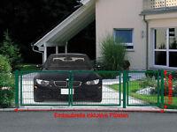 Einfahrtstor Toranlage 3-flügelig Grün Tor Hoftor Doppel Gartentor 350cm X 103cm