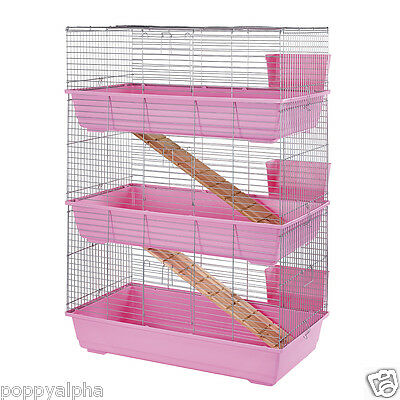 RABBIT GUINEA PIG INDOOR CAGE HUTCH 80cm 100cm 80 100 Double Tier Triple Floor