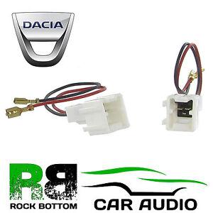 CT55-DC01 DACIA SANDERO 2012 ONWARDS CAR SPEAKER HARNESS ADAPTER CONNECTORS