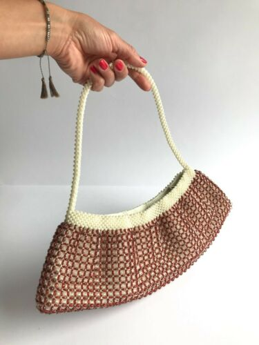 Fancy 90's Beaded Baguette Style Handbag