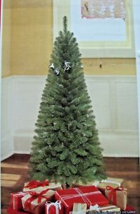 Christmas Tree Setup.Details About New 6 Ft Artificial Christmas Tree W Stand Wesley Pine Green Easy Setup New