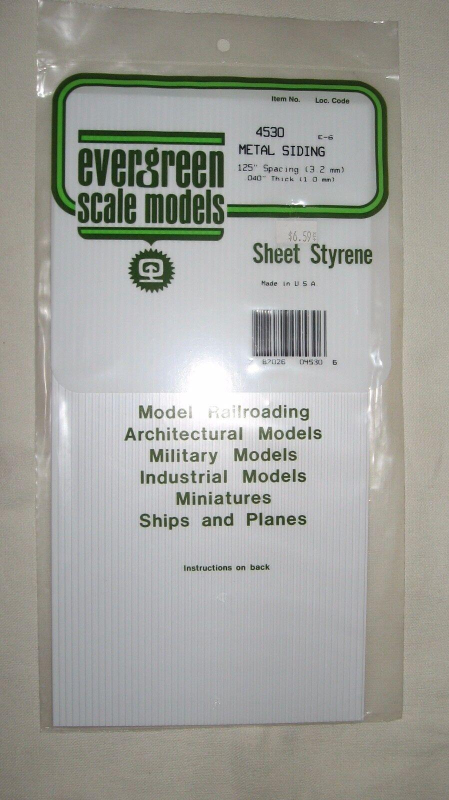 Evergreen Metal Siding Styrene Plastic .125  4530