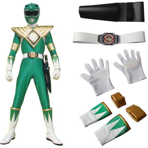 Mighty Morphin Rangers Burai Dragon Ranger Cosplay Belt Gloves Props Accessories