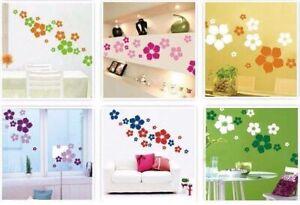 Blumen-Deko-Wandsticker-Wandtattoo-Aufkleber-Wohnzimmer-Sticker-Tattoo